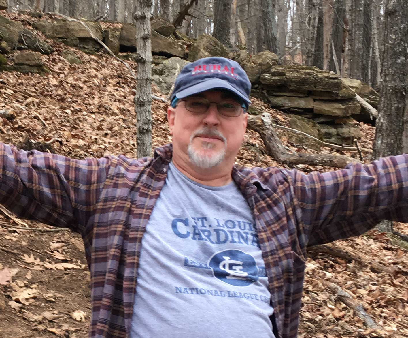 Paul taking a break during a hike at Don Robinson State Park